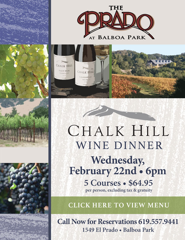 Chalk Hill Wine Dinner at The Prado