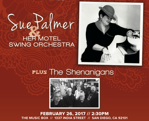 Join ArtsReach for Sue Palmer and Her Motel Swing Orchestra